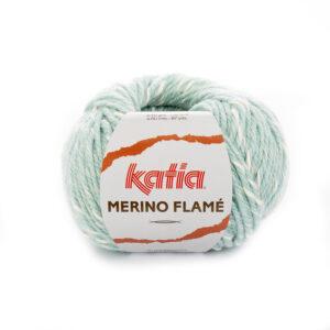 Katia Merino Flamé 105 Waterblauw ecru