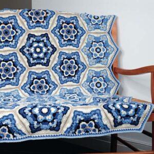 Delft deken met patroon
