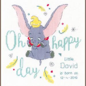 Geboortetegel Dumbo oh happy day pn-0176205