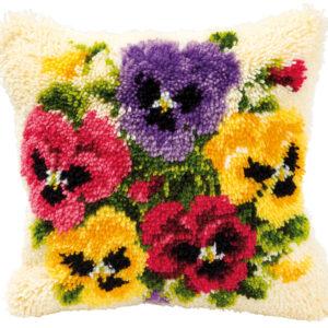 Knoopkussen kit Kleurige bloemen (PN-0014171)