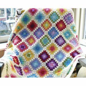 Regenboog Granny Square blanket